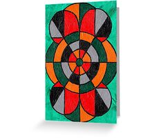 Geometric Bullseye Target Pattern Greeting Card