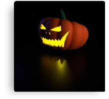 3d halloween pumpkin lamp Canvas Print