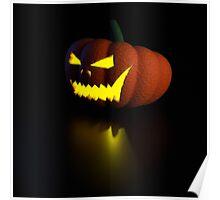 3d halloween pumpkin lamp Poster