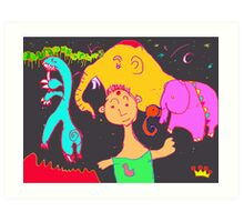 Uncle Barber and His Nomadic Travellers Art Print