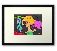 Uncle Barber and His Nomadic Travellers Framed Print