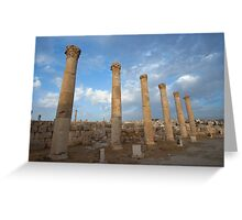 City greco-roman of Jerash Greeting Card