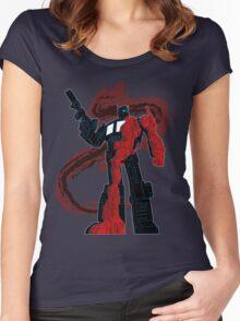 Optimus Prime - Écorché (dark) Women's Fitted Scoop T-Shirt