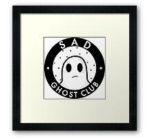 Sad ghost club Framed Print