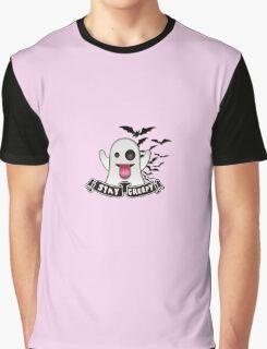 Stay Creepy - Ghost Emoji Graphic T-Shirt