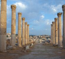Columns in Jerash Sticker