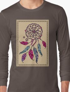 Indian Dream catcher- tribal amulet. Long Sleeve T-Shirt