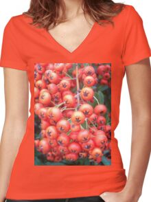 Cotoneaster 5 Women's Fitted V-Neck T-Shirt