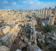 Columns in Jerash by PhotoBilbo