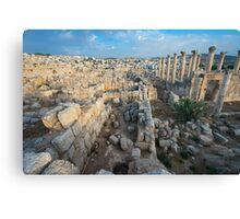 Columns in Jerash Canvas Print