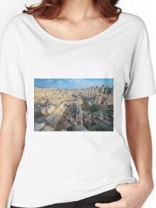 Columns in Jerash Women's Relaxed Fit T-Shirt