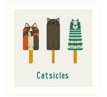 Catsicles Art Print