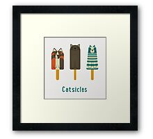 Catsicles Framed Print