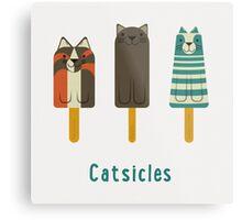 Catsicles Metal Print