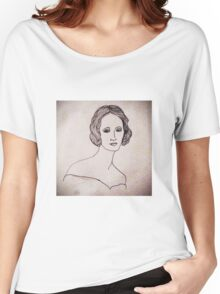 Portrait of Mary Shelley  Women's Relaxed Fit T-Shirt
