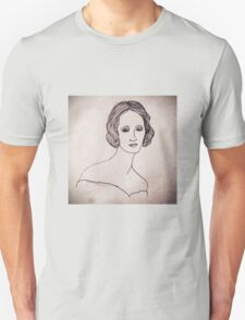 Portrait of Mary Shelley  Unisex T-Shirt