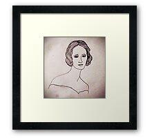 Portrait of Mary Shelley  Framed Print