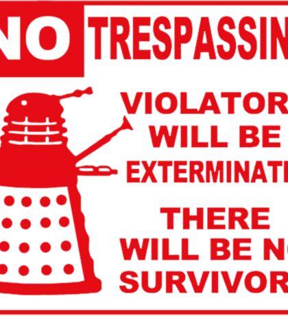 Signs of Danger! Sticker