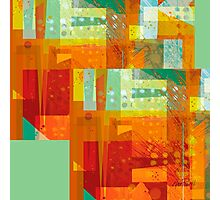 Intersect Orange abstract art Photographic Print