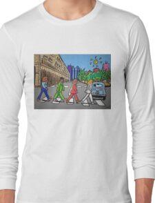 The Beatles in via Roma Cagliari PoscArt Long Sleeve T-Shirt