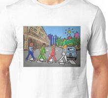 The Beatles in via Roma Cagliari PoscArt Unisex T-Shirt