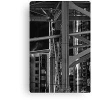 Cold Urban Steel Canvas Print