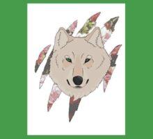 Floral Wolf  Kids Tee