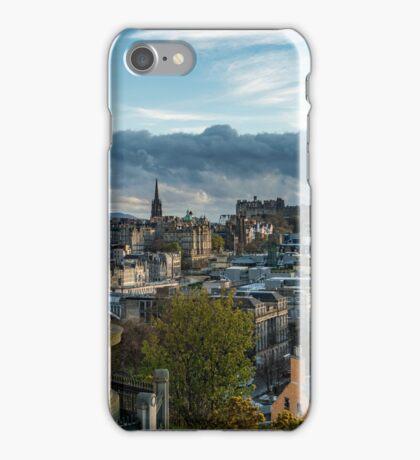 Dugald Stewart monument Calton hill Edinburgh iPhone Case/Skin