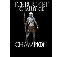 White walkers - ALS ice bucket challenge champion Photographic Print