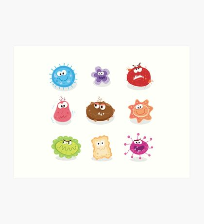Bugs and germs I. Swine flu, cancer, staphylococcus or trojan virus Art Print