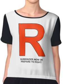 Team Rocket (Surrender Now or Prepare to Fight!) Chiffon Top