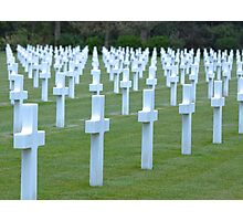 American WWII Cemetery - Colleville s/Mer Normandy France Photographic Print