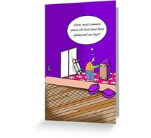 Lost glasses and car keys cartoon humour card Greeting Card