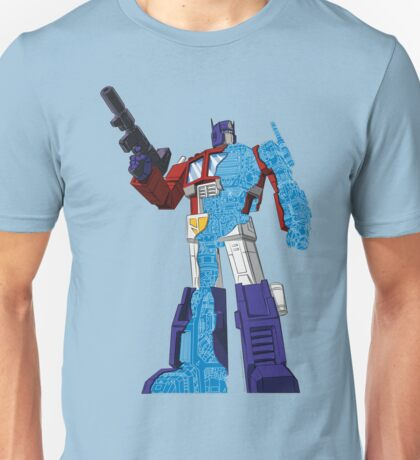 Optimus Prime - Écorché (blueprint v1) Unisex T-Shirt