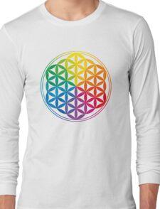 Flower Of Life, Sacred Geometry, Yoga Long Sleeve T-Shirt