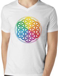 Flower Of Life, Sacred Geometry, Yoga Mens V-Neck T-Shirt
