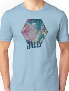 JALLY - BLUE ON GOLD ON GOLD ON BLUE Unisex T-Shirt