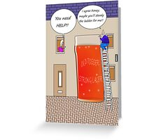 You need help drinking related cartoon humour card  Greeting Card