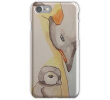 Mama and Baby Penguin iPhone Case/Skin