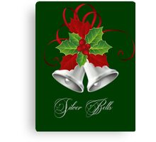 Silver Bells & Holly/Christmas Canvas Print