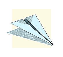 Paper Airplane 14 Photographic Print