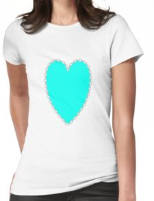 0686 Turquoise Blue Womens Fitted T-Shirt