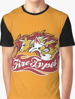 Fire Types Graphic T-Shirt