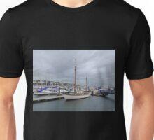 Grey Skies And White Boats...........................Bangor Unisex T-Shirt