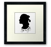 Rey is Gay Silhouette Framed Print