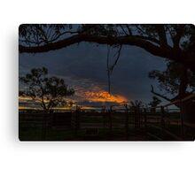 Sunset at the Cattle Yard - Kilcowera Station Canvas Print