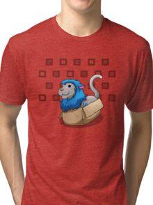 Derpkitty sits Tri-blend T-Shirt