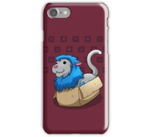 Derpkitty sits iPhone Case/Skin