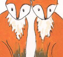 Fuchs-Herz Sticker