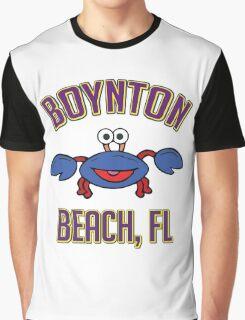 BOYNTON BEACH FLORIDA BLUE CRAB CUTE ANIMAL BEACH NAUTICAL OCEAN VACATION Graphic T-Shirt